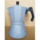 Кофеварка 600 мл алюминиевая гейзерная с индукционным дном Kamille 2519GR (серый мрамор)