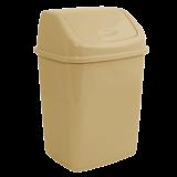 Ведро для мусора квадратное с крышкой на 5 л Алеана 122061 кремовое