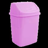 Ведро для мусора квадратное с крышкой на 5 л Алеана 122061 розовое