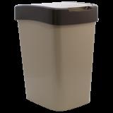 Ведро для мусора Евро квадратное с крышкой на 25 л Алеана Евро 123067