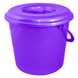 Ведро пластиковое круглое с крышкой и пластиковой ручкой на 10 л Алеана 122010 фиолетовое