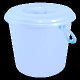 Ведро пластиковое круглое с крышкой и пластиковой ручкой на 5 л Алеана 122005 прозрачное