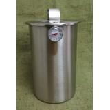 Ветчинница стальная 1.5 л с термометром Kamille 6506